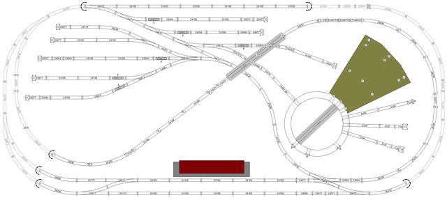 marklin ho 4x9 c track layout