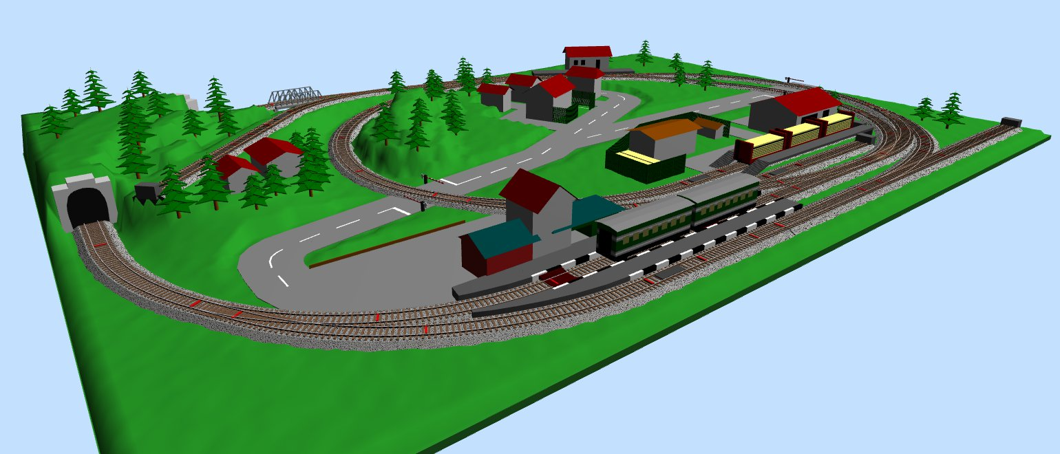 Compact railroad layout in ho scale - Ho train layouts for small spaces image ...